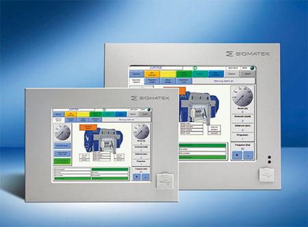 touchpanel integrerat PLC anodiserad front